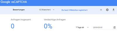 Bild: 07 Google RECaptcha: bei Google eine neue Website anlegen