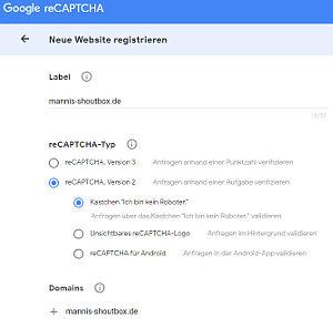 Bild: 08 Google Registrierungs Daten für Deine Website eingeben