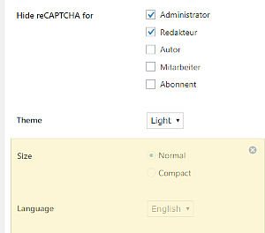 Bild: 13 Google ReCaptcha Settings ausfüllen