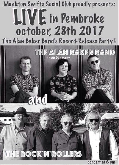 Bild: Die Alan Baker Band spielt in Pembroke -Plakat