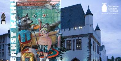 Sreenshot: Ernst Kahl im Caricatura Museum - Startseite des Caricatura Museums
