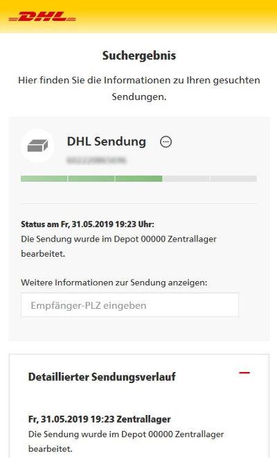 Bild: Versanddienste und das Warten auf den Zusteller - Lebenszeitdiebstahl durch schlechte Organisation DHL-Tracking